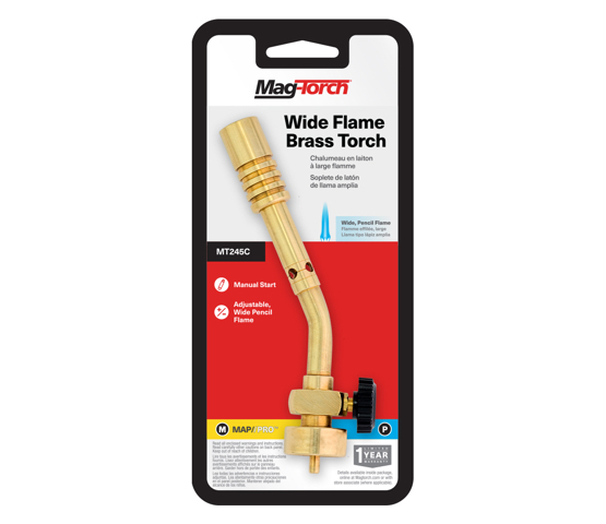 Mag-Torch MT245C Wide Flame Brass Torch in packaging