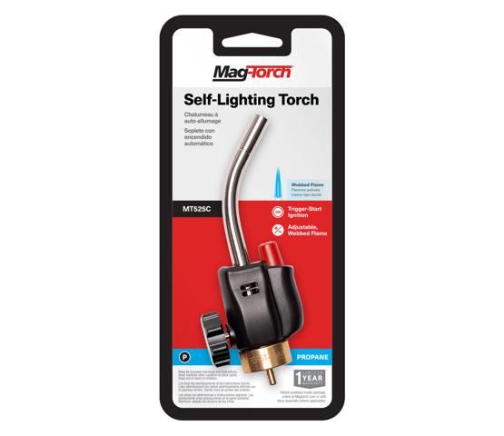 MT525C self-lighting torch in packaging