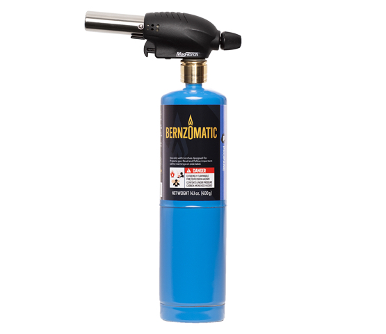 Mag-Torch MT531PK All-Purpose Torch connected to Bernzomatic Propane cylinder