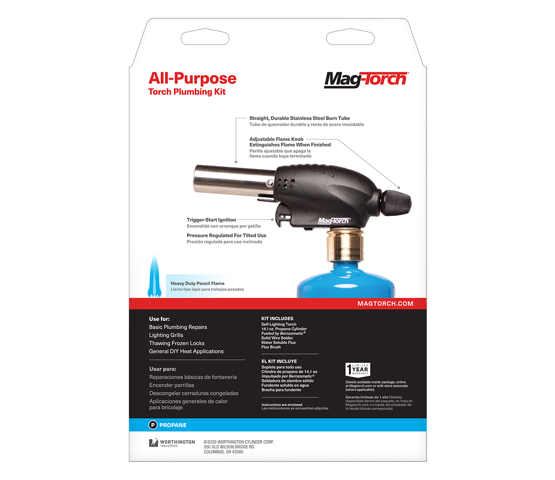 Mag-Torch MT531PK All-Purpose Torch Plumbing kit back of packaging
