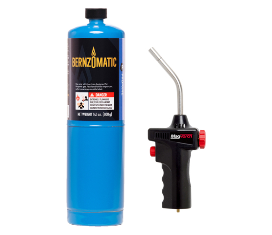 Mag-Torch MT535 torch and Bernzomatic Propane cylinder
