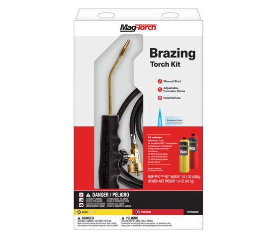 MT585OX brazing torch kit in package
